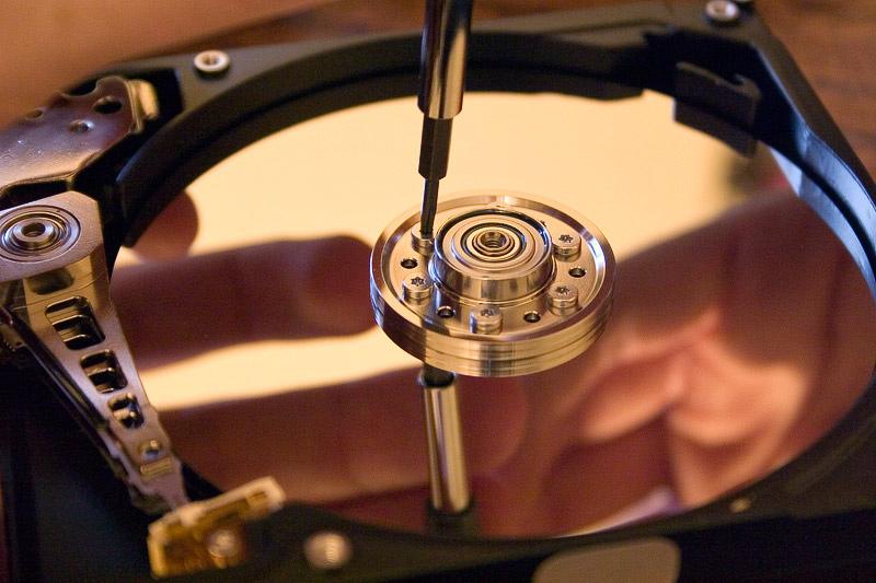 Imagen interior de un Disco Duro