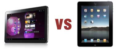 Samsung Galaxy vs Apple iPad