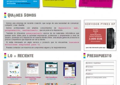 González y Aneas Informática. Nuestra primera página web