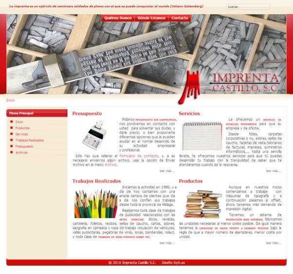 Imprenta Castillo. La imprenta del Gualdahorce