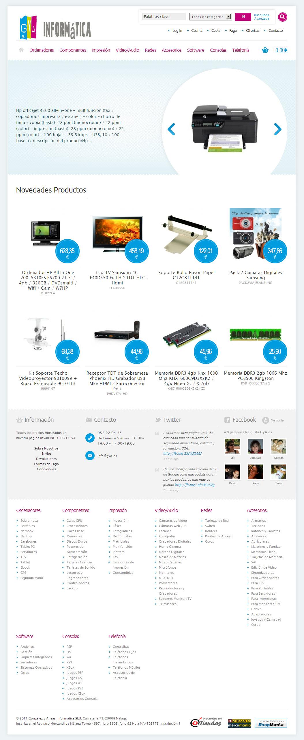 Tienda de Informática Online. tienda.gya.es
