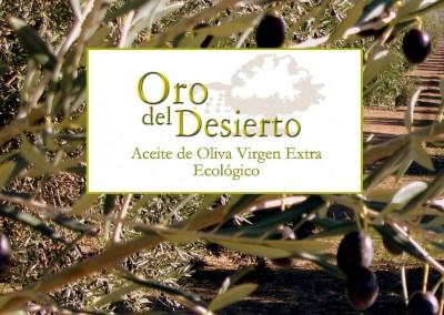 """Catálogo Aceite de Oliva Ecológico """"Oro del Desierto"""""""