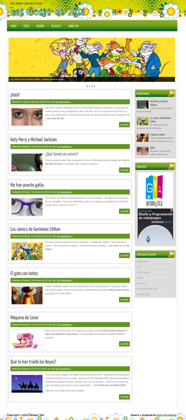 Las Cosas de Zita. Una web personal