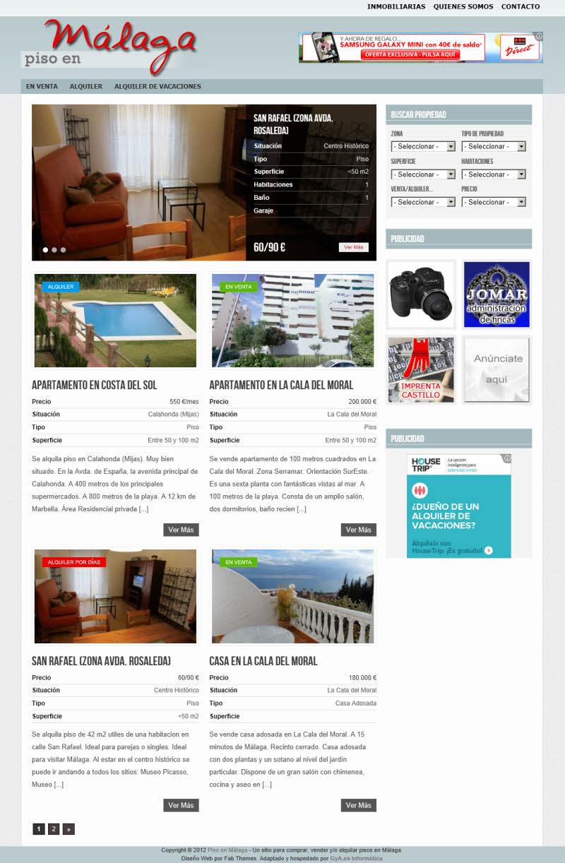 Alquiler y venta de propiedades for Busco piso en alquiler