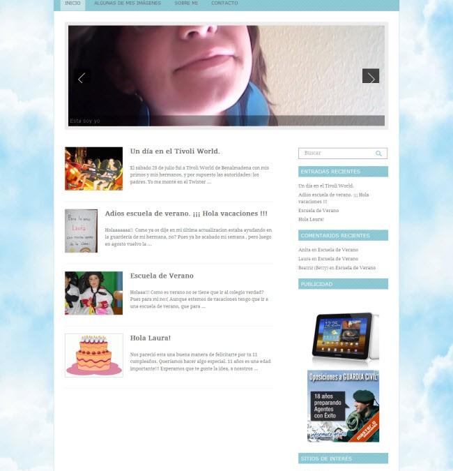 Laura en las Nubes. Web personal