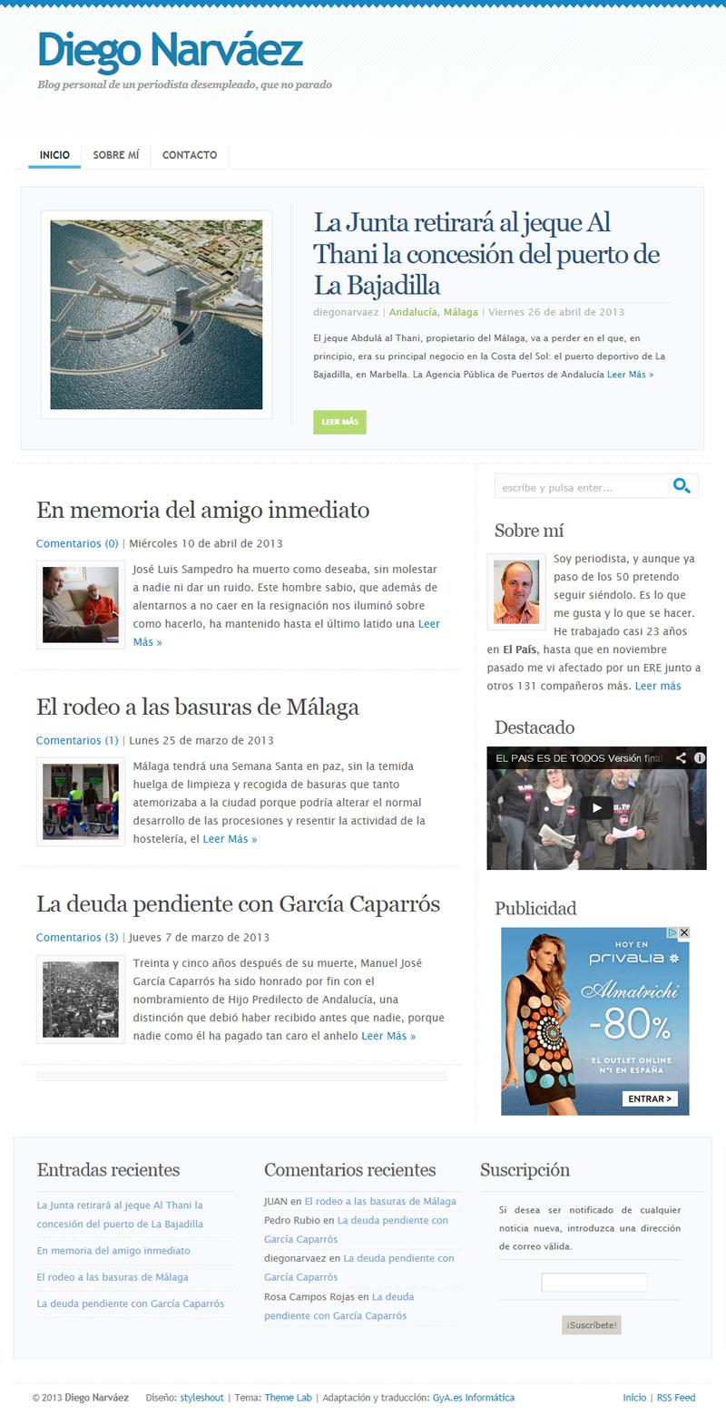 Diego Narváez. Reputado periodista malagueño