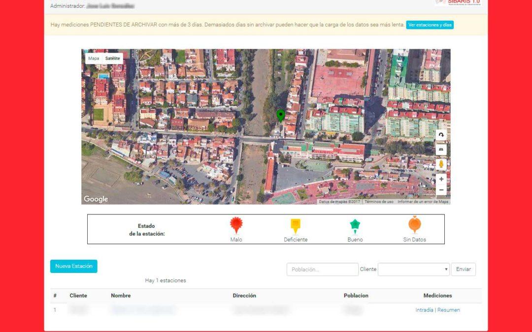 Sibaris. Plataforma de Monitorado de Calidad Ambiental