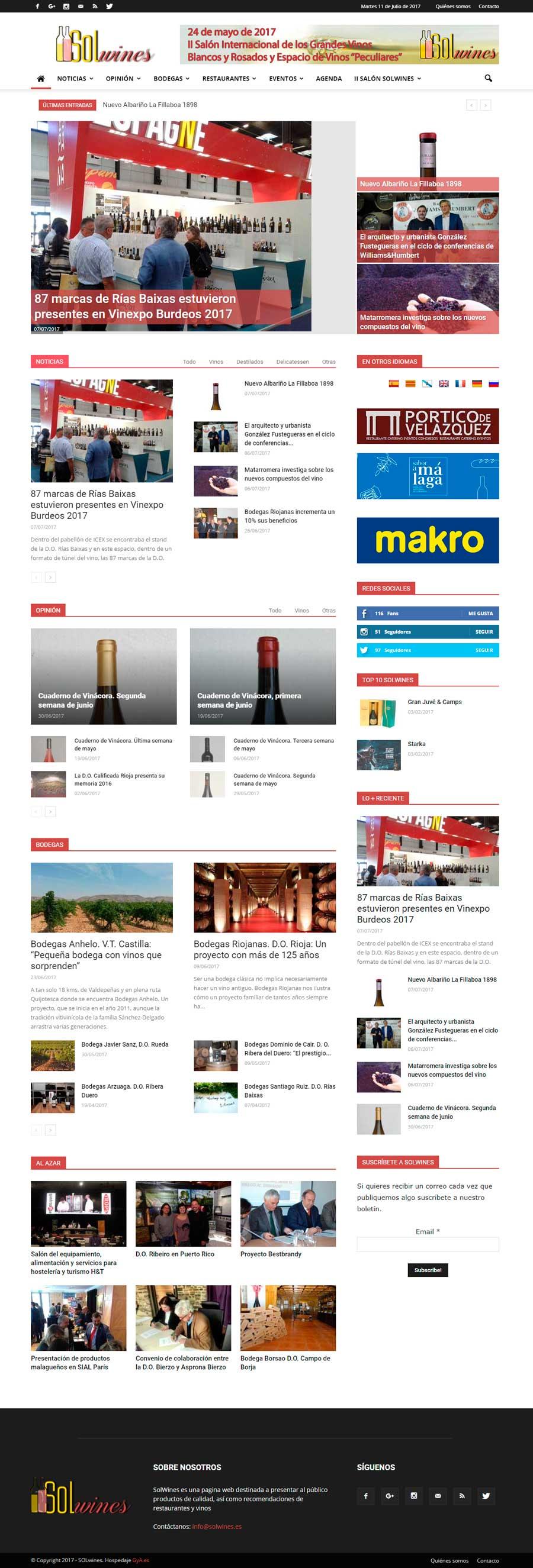 Solwines. Recomendaciones, restaurantes y vinos